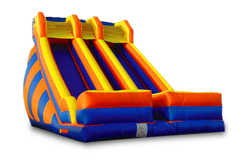 Bounce 22' Blue & Red Dual Slide