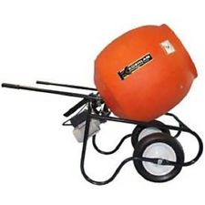 Kushlan Professional Portable Electric Direct Drive Cement Mixer — 6 Cubic Ft., Model# 600DD