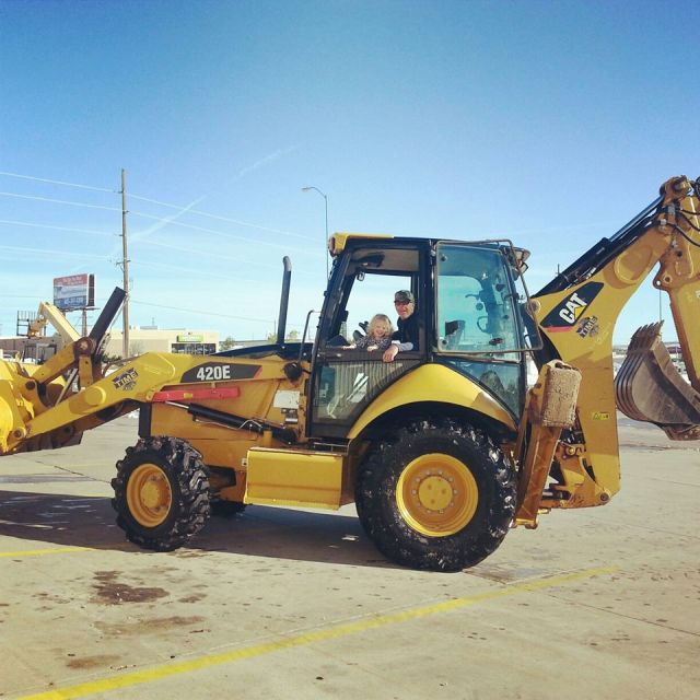 Cat Backhoe 420E