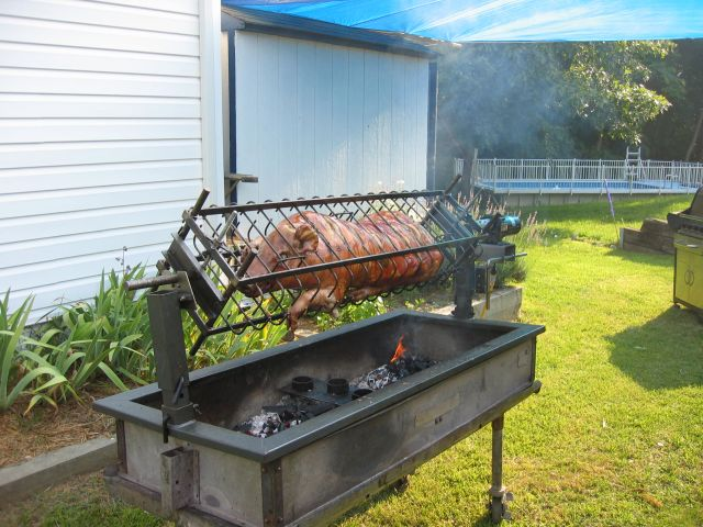 Charcoal Grill with Rotisserie