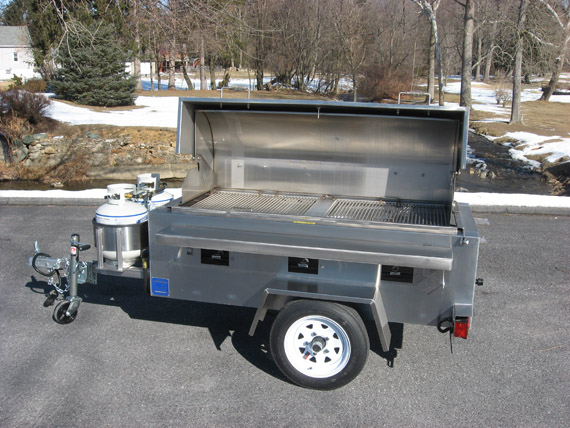 Tow-Behind Stainless Steel Grill