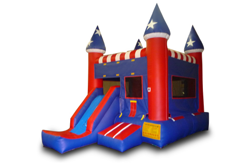 USA Front Slide Bounce Castle